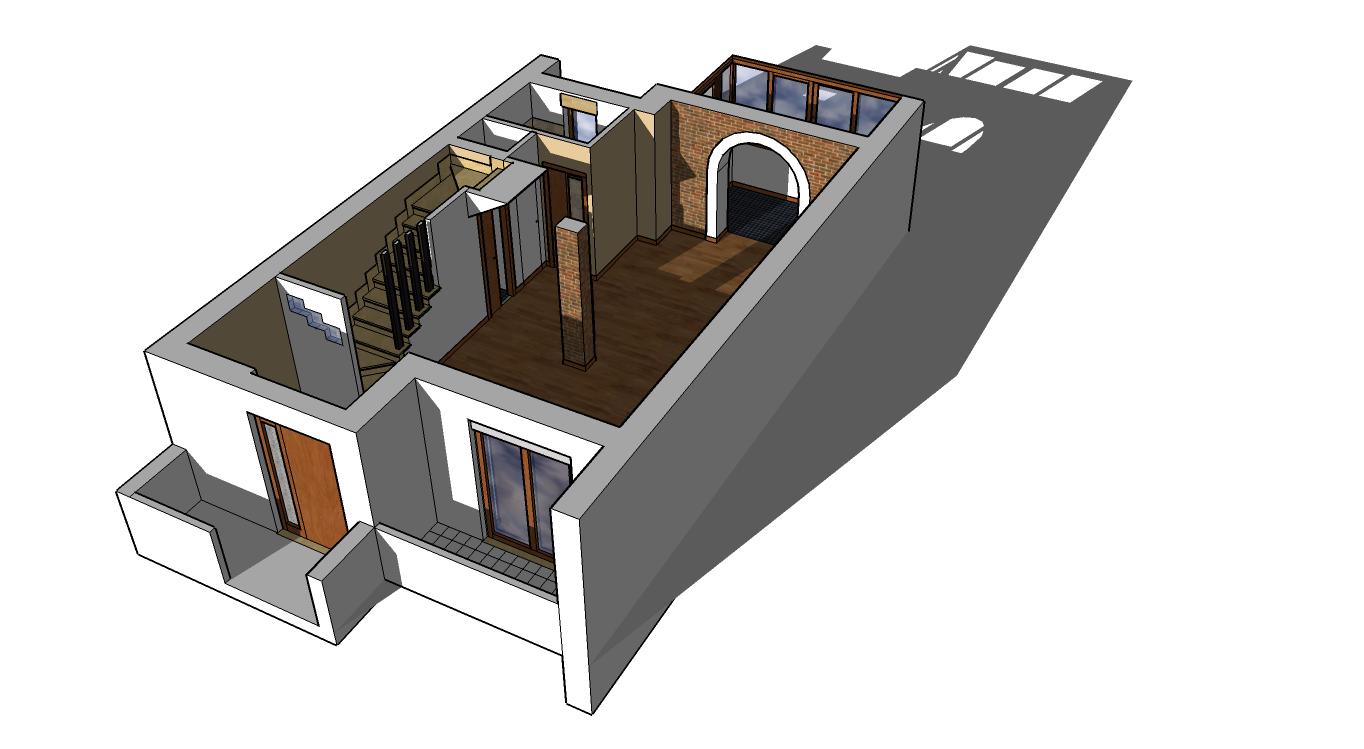 Quando il piccolo piano terra diventa un grande open space for Piani di casa open space