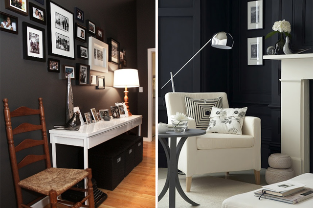 Pareti Colorate Nere : Pareti nere black walls